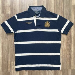 Vintage Polo Ralph Lauren NY Crest Striped Polo M